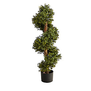 """33"""" Boxwood Topiary Spiral Artificial Tree (Indoor/Outdoor), , large"""