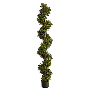 6' Boxwood Spiral Topiary Artificial Tree, , large