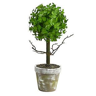 "15"" Eucalyptus Topiary Artificial Tree, , large"