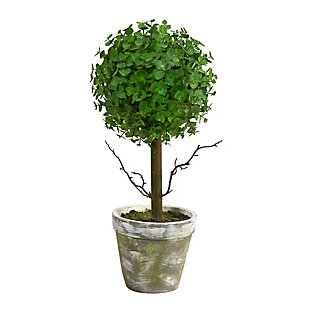 "20"" Eucalyptus Single Ball Topiary Artificial Tree, , large"