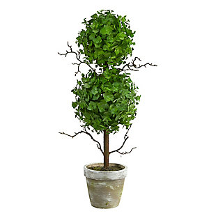 2' Eucalyptus Double Ball Topiary Artificial Tree, , large