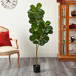 5.5' Fiddle Leaf Fig Artificial Tree, , rollover