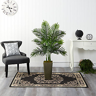 4' Areca Palm Artificial Tree in Green Planter (Real Touch), , rollover