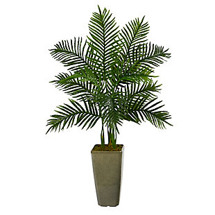 4' Areca Palm Artificial Tree in Green Planter (Real Touch), , large