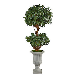"51"" Sweet Bay Double Ball Topiary Artificial Tree in Decorative Urn, , large"