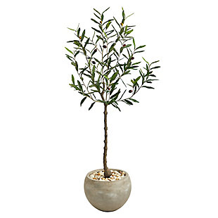 """50"""" Olive Artificial Tree in Sand Colored Planter, , large"""