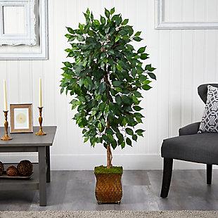 "51"" Ficus Artificial Tree in Metal Planter, , rollover"