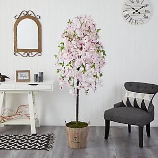 """70"""" Cherry Blossom Artificial Tree in Farmhouse Planter, , rollover"""