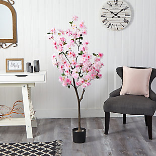 5' Cherry Blossom Artificial Tree, , rollover