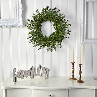 "20"" Boxwood Artificial Wreath, , rollover"