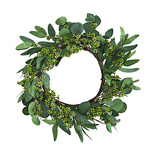 "22"" Eucalyptus and Berry Artificial Wreath, , large"