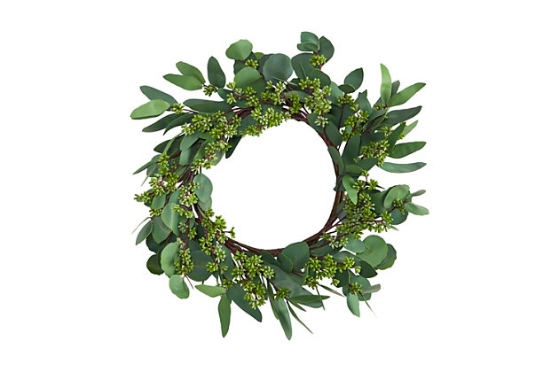 """22"""" Eucalyptus and Berry Artificial Wreath, , large"""