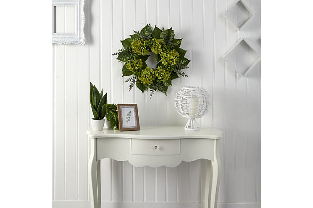 "24"" Hydrangea and Eucalyptus Artificial Wreath, , large"