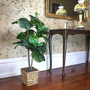 38-inch Mini Fiddle Leaf Fig Tree in Basket, , large