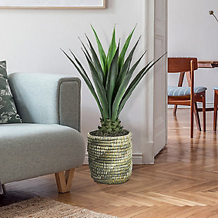 42-inch Faux Agave in Basket, , rollover