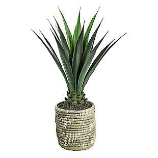 42-inch Faux Agave in Basket, , large