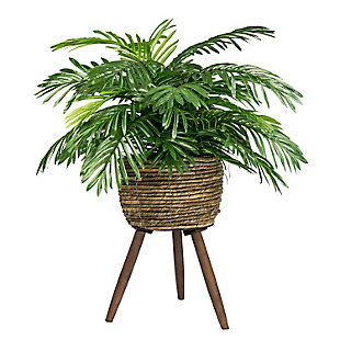 30-inch Phoenix Palm in Deco Basket Stand, , large