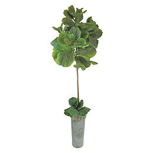 68-inch Fig Tree in Metal Vase, , large