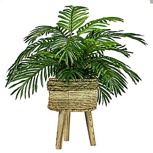 32-inch Palm in Tri-Color Basket Stand, , large