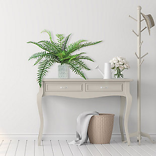 26-inch River Fern Plant in White and Black Vase, , rollover
