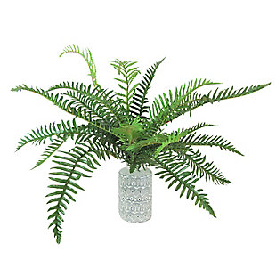 26-inch River Fern Plant in White and Black Vase, , large