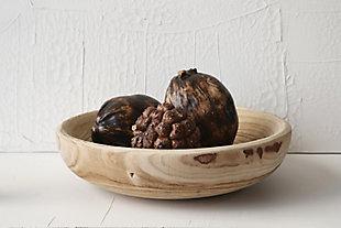 Decorative Paulownia Wood Bowl, , rollover