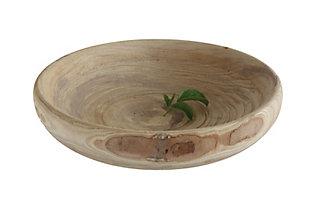 Decorative Paulownia Wood Bowl, , large