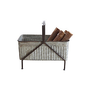 Metal Bucket/Planter on Stand, , large