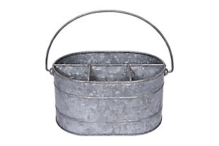 Metal Bucket with 4 Compartments and Handle, , large