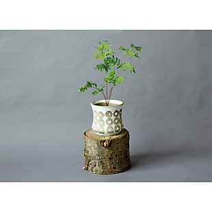 White Pot with Circle Print, , rollover