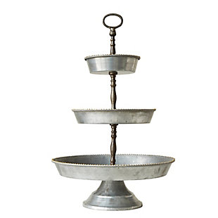 Decorative 3 Tier Metal Tray, , large