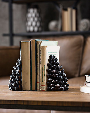 Pinecone Shaped Resin Bookends (Set of 2 Pieces), , rollover