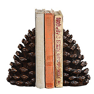 Pinecone Shaped Resin Bookends (Set of 2 Pieces), , large
