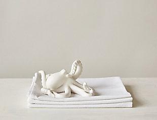 Decorative White Bisque Octopus, , rollover