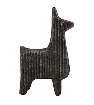 Large Corrugated Cast Iron Llama, , large