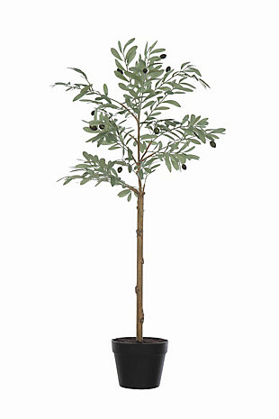 Potted Faux Olive Artificial Flower, , large