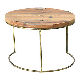 Round Wood Dia Tray with Metal Legs, , large