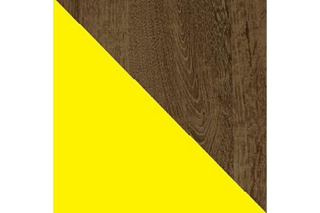"Manhattan Comfort Liberty 17.7"" Bathroom Vanity Sink, Rustic Brown/Yellow, large"
