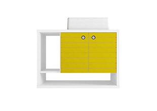 "Manhattan Comfort Liberty Floating 31.5"" Bathroom Vanity Sink, White/Yellow, large"