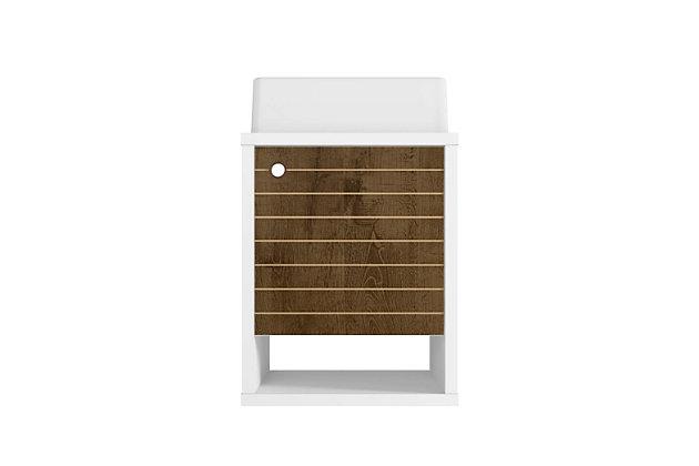 """Manhattan Comfort Liberty Floating 17.7"""" Bathroom Vanity Sink, White/Rustic Brown, large"""