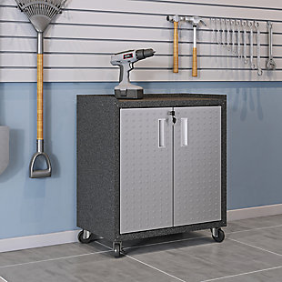 """Manhattan Comfort Fortress 31.5"""" Mobile Garage Cabinet with Shelves, , rollover"""
