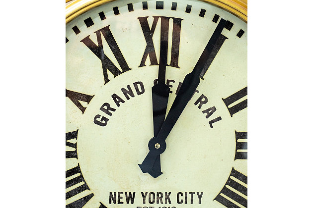 """A TOUCH OF DESIGN 28"""" Large Grand Central Station Clock in Gold Finish, , large"""