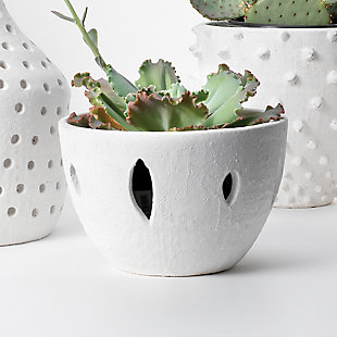 Lacerated White Decorative Bowl, , rollover