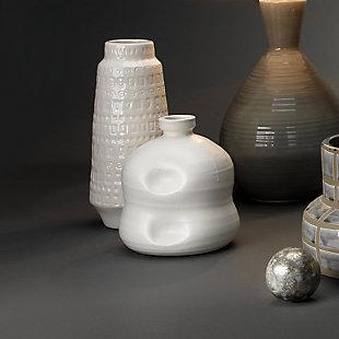 Dimple Jug in Matte White Ceramic, , rollover