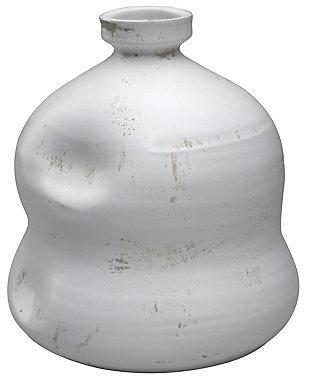 Dimple Jug in Matte White Ceramic, , large
