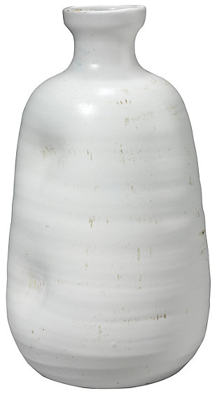 Dimple Vase in Matte White Ceramic, , large