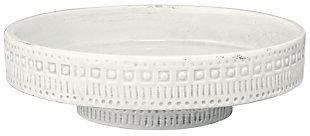 Coco Pedestal in White Ceramic, , large