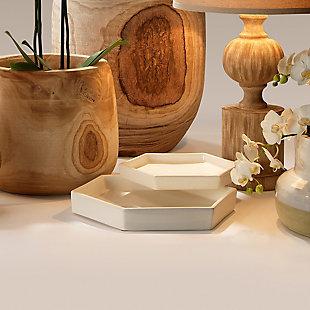 Small Porto Tray in White Ceramic, , rollover