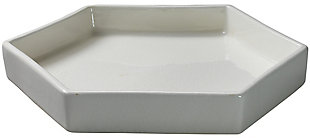 Large Porto Tray in White Ceramic, , large