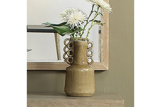 Circus Vase in Latte Ceramic, , large